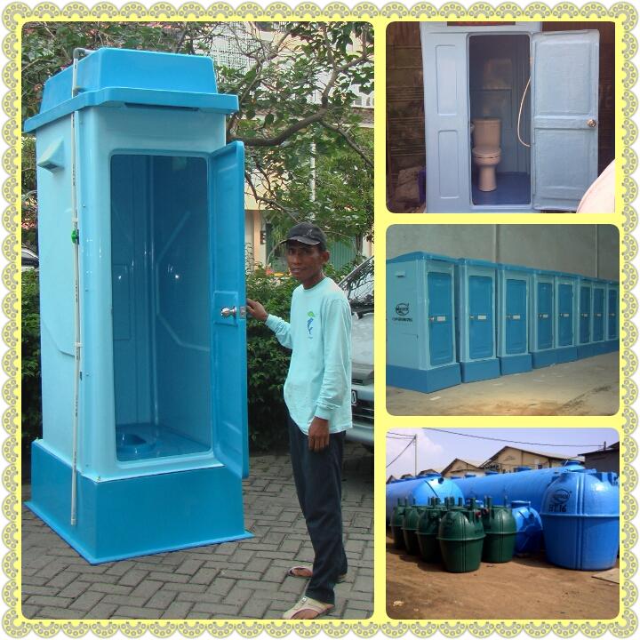portable toilet frp, flexible toilet, wc sementara, toilet proyek, biofive, biogift, bofil