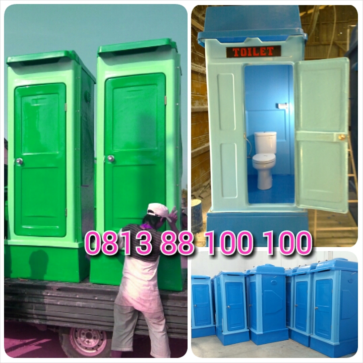 flexible toilet fiberglass, toilet portable fibreglass, wc sementara, toilet pesta taman