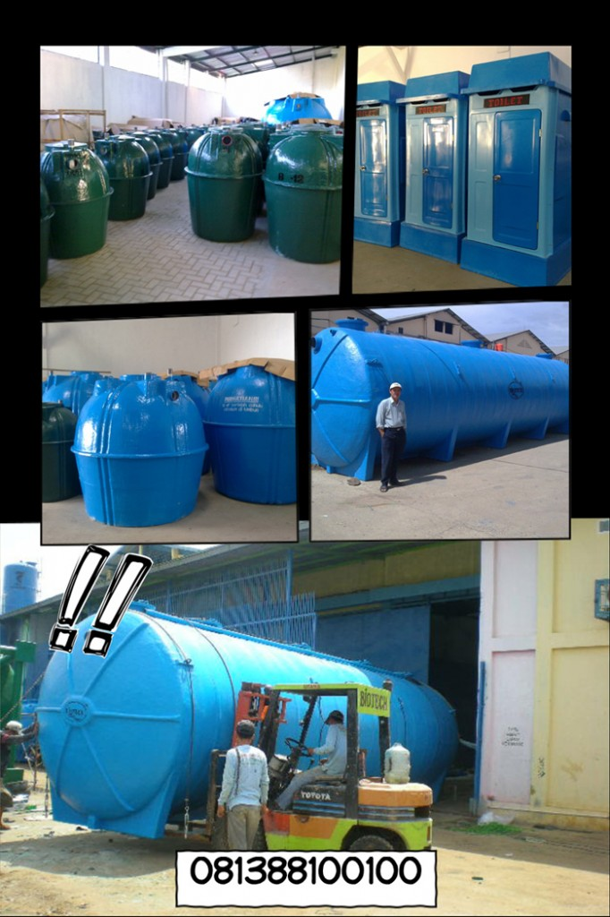 pabrik septic tank biotech modern, grease trap, portable toilet frp